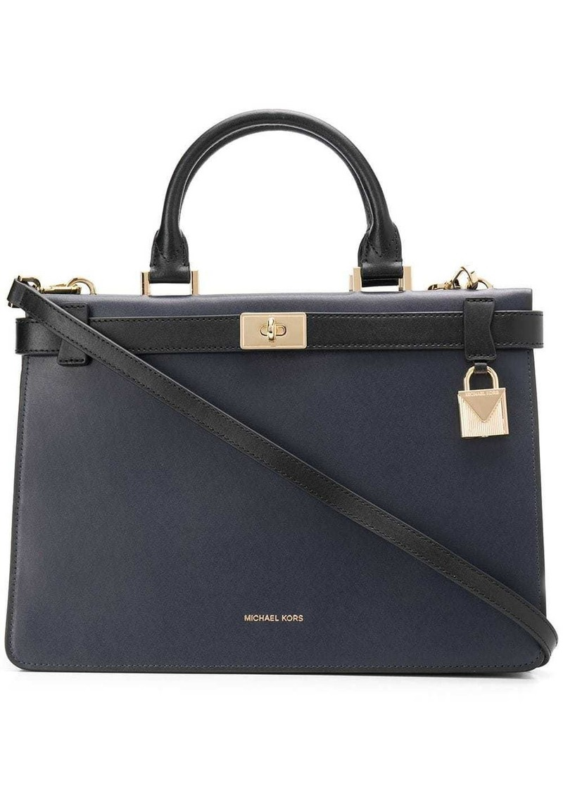 MICHAEL Michael Kors Tatiana medium two-tone satchel