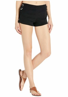 MICHAEL Michael Kors Terry Lace-Up Side Shorts Cover-Up