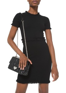 MICHAEL Michael Kors Texture Fringe Sheath Dress