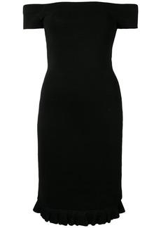MICHAEL Michael Kors textured bardot dress