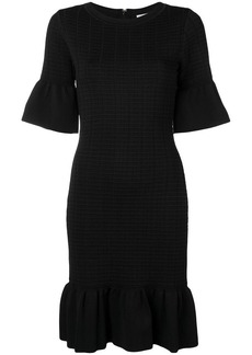 MICHAEL Michael Kors textured ruffle trim dress