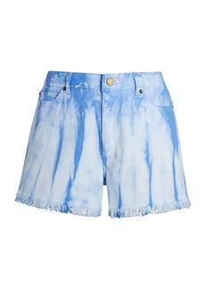 MICHAEL Michael Kors Tie-Dye Denim Cut-Off Shorts