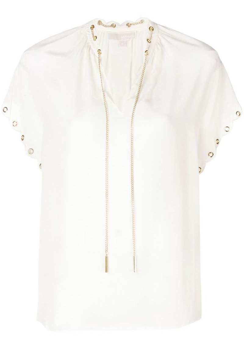 9bc5d224f7bf Michael Kors Blouse With Chain - Best Pictures Of Blouse And Pocket