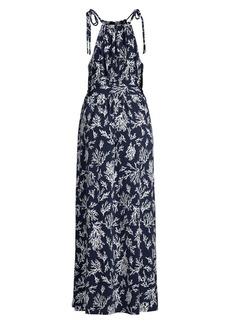 MICHAEL Michael Kors Tie-Strap Reef Print Maxi Dress