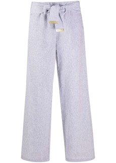 MICHAEL Michael Kors tie-waist striped trousers