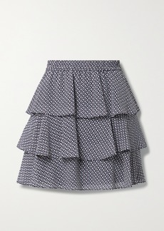 MICHAEL Michael Kors Tiered Ruffled Floral-print Crepe De Chine Mini Skirt
