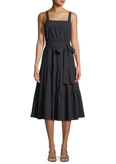 MICHAEL Michael Kors Tiered Sleeveless Midi Dress