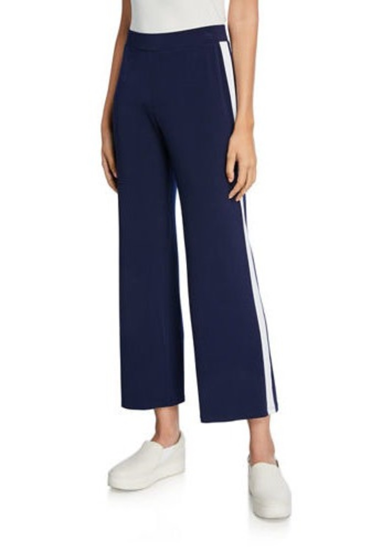 MICHAEL Michael Kors Track-Striped Wide-Leg Pants