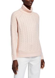 MICHAEL Michael Kors Turtleneck Cable Knit Sweater