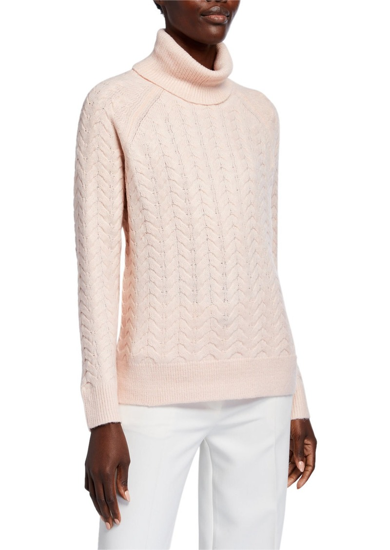 MICHAEL Michael Kors Turtleneck Cable Knit Sweater