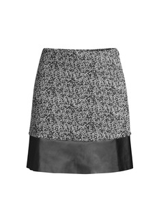 MICHAEL Michael Kors Tweed Faux Leather Mini Skirt