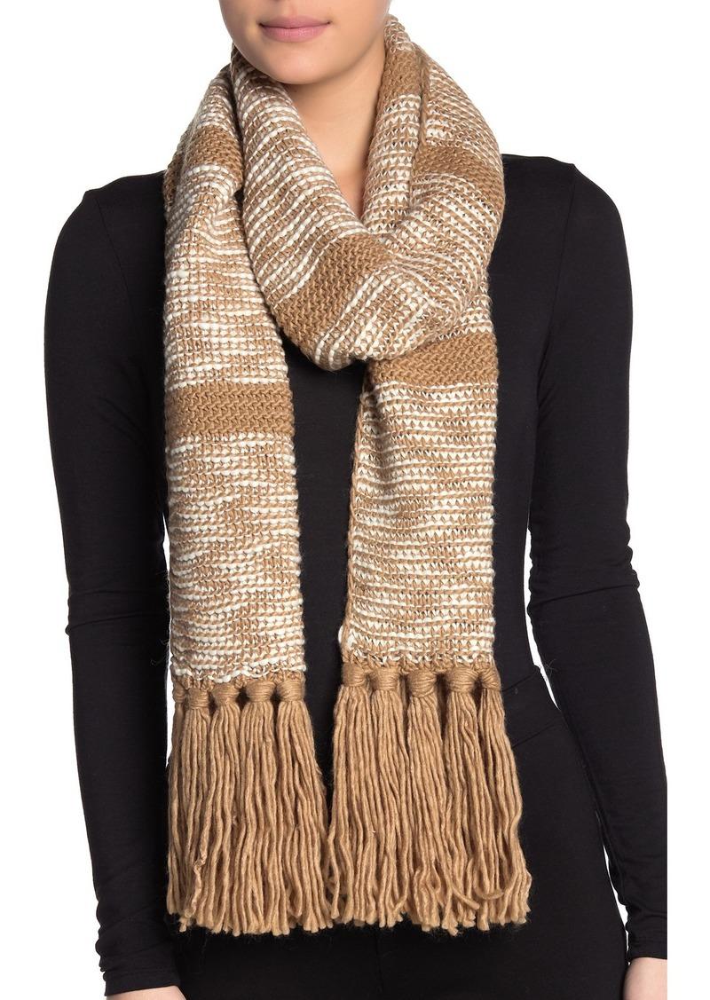 MICHAEL Michael Kors Tweed Knit Fringe Wrap Scarf