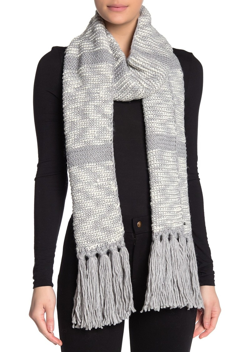 MICHAEL Michael Kors Tweed Knit Fringe Wrap Scarf