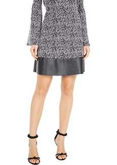MICHAEL Michael Kors Tweed Leather Mini Skirt