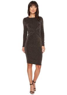 MICHAEL Michael Kors Twist Waist Long Sleeve Dress