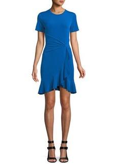 MICHAEL Michael Kors Twist-Waist Ruffled Dress