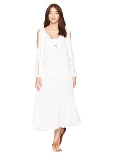MICHAEL Michael Kors Twisted Rope Midi Dress Cover-Up w/ Rope Ties & Tassels