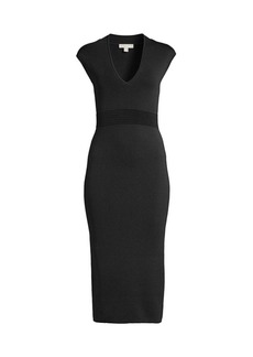 MICHAEL Michael Kors V-Neck Bodycon Dress
