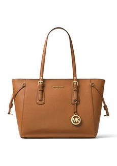 MICHAEL Michael Kors Voyager Medium Leather Shoulder Tote Bag