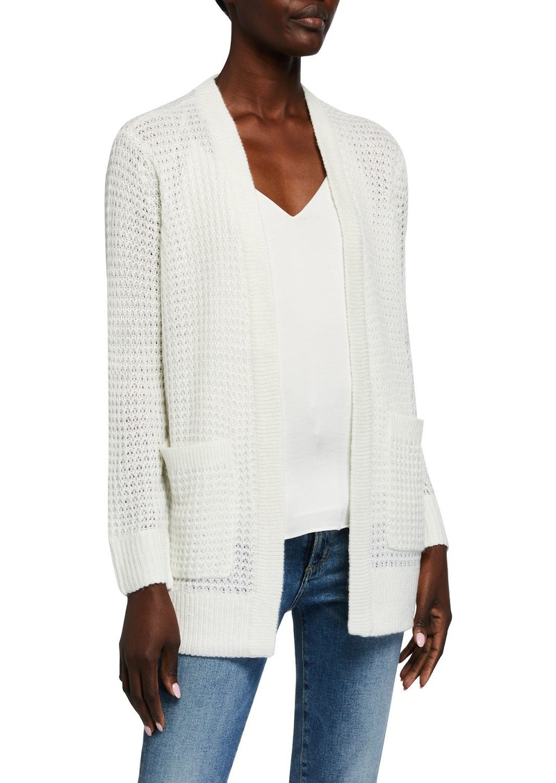 MICHAEL Michael Kors Waffle Texture Wool-Blend Sweater Cardigan