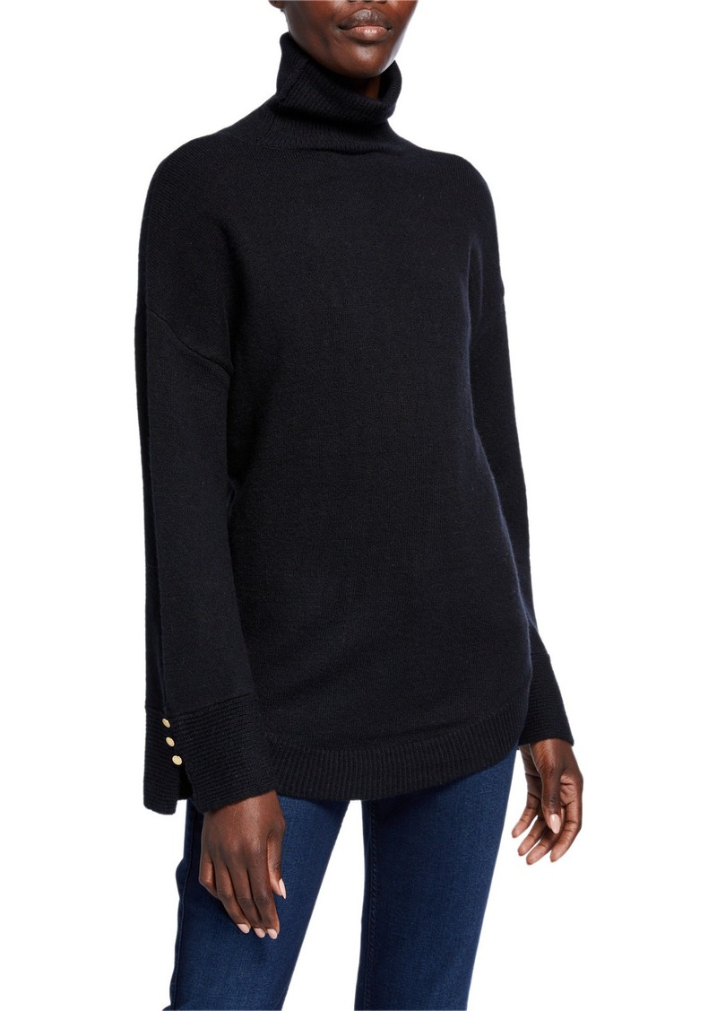MICHAEL Michael Kors Wide-Sleeve Turtleneck Sweater