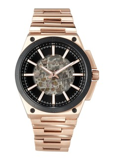 MICHAEL Michael Kors Wilder Rose Golden Stainless Steel Automatic Skeleton Watch