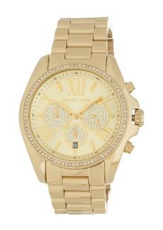 Michael Kors Women's Bradshaw Chronograph Crystal Embellished Bracelet Watch, 43mm