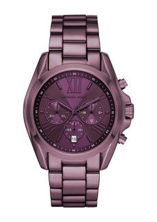 MICHAEL Michael Kors Women's Bradshaw Chronograph Purple Stainless Steel Watch, 43mm