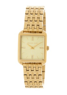 MICHAEL Michael Kors Women's Drew Gold Plated Bracelet Watch, 33mm x 39mm