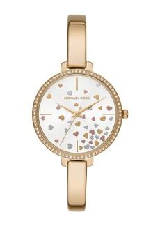MICHAEL Michael Kors Women's Jaryn Crystal Pave Bangle Watch, 36mm