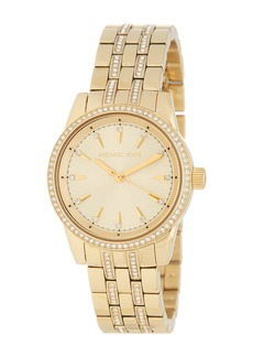 MICHAEL Michael Kors Women's Mini Ritz Crystal Bezel Bracelet Watch, 33mm