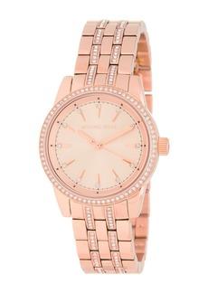 MICHAEL Michael Kors Women's Mini Ritz Crystal Bezel Bracelet Watch, 33mm