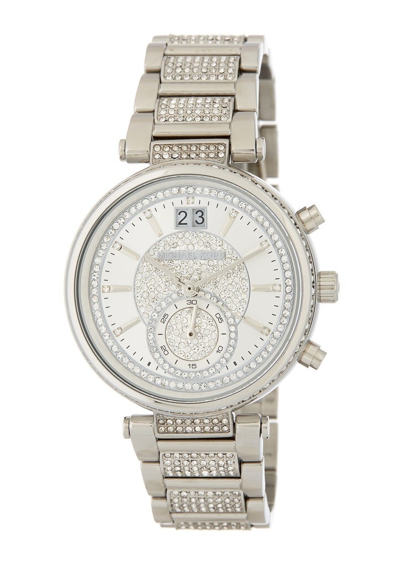 MICHAEL Michael Kors Women's Pave Sawyer Bracelet Watch, 39mm