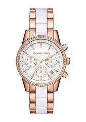MICHAEL Michael Kors Women's Ritz Chronograph Two-Tone Bracelet Watch, 37mm