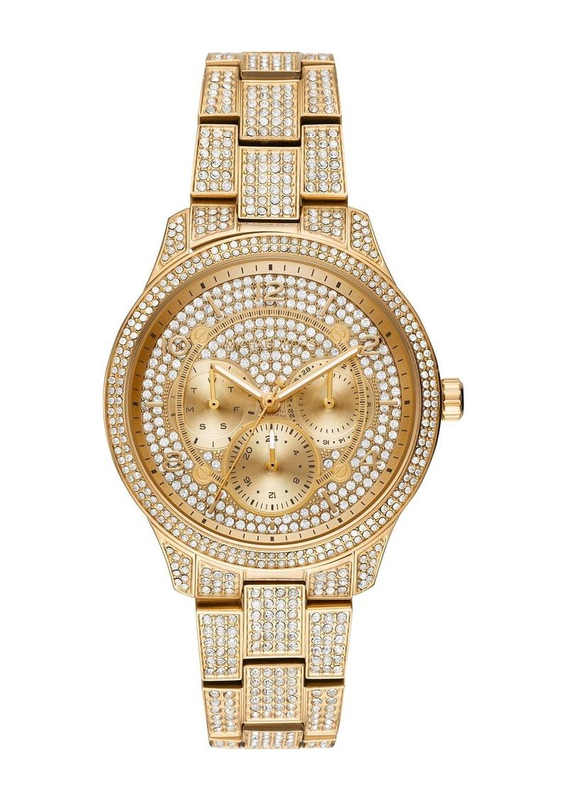 MICHAEL Michael Kors Women's Runway Crystal Embellished Bracelet Watch, 38mm