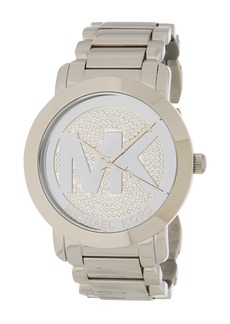 MICHAEL Michael Kors Women's Runway Pave Bracelet Watch, 45mm