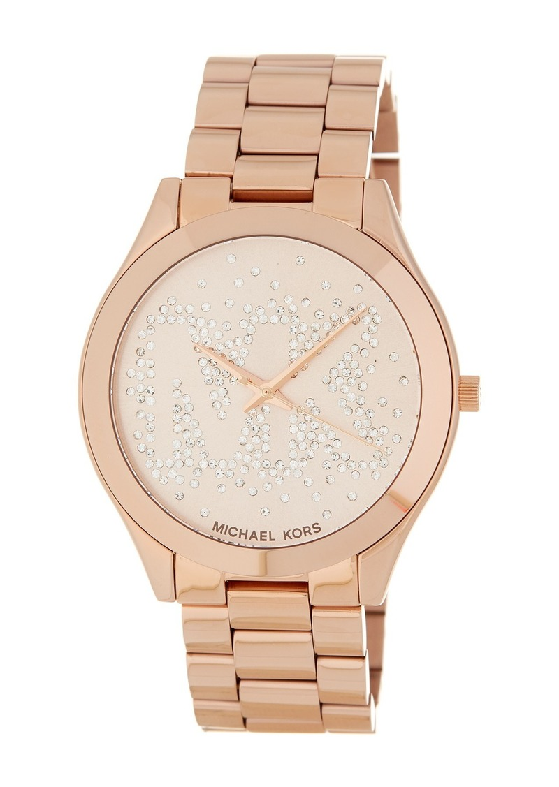 MICHAEL Michael Kors Women's Slim Runway Bracelet Watch, 42mm