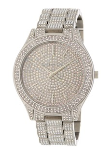 MICHAEL Michael Kors Women's Slim Runway Pave Bracelet Watch, 49mm