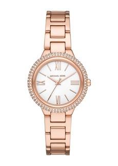 MICHAEL Michael Kors Women's Taryn Three-Hand Rose Gold-Tone Stainless Steel Watch, 33mm
