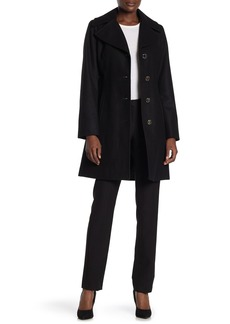 MICHAEL Michael Kors Wool Blend Notch Lapel Coat