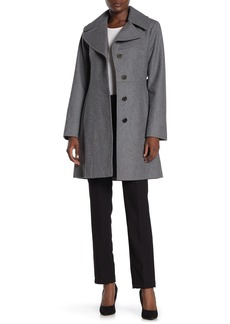 MICHAEL Michael Kors Wool Blend Notch Lapel Coat