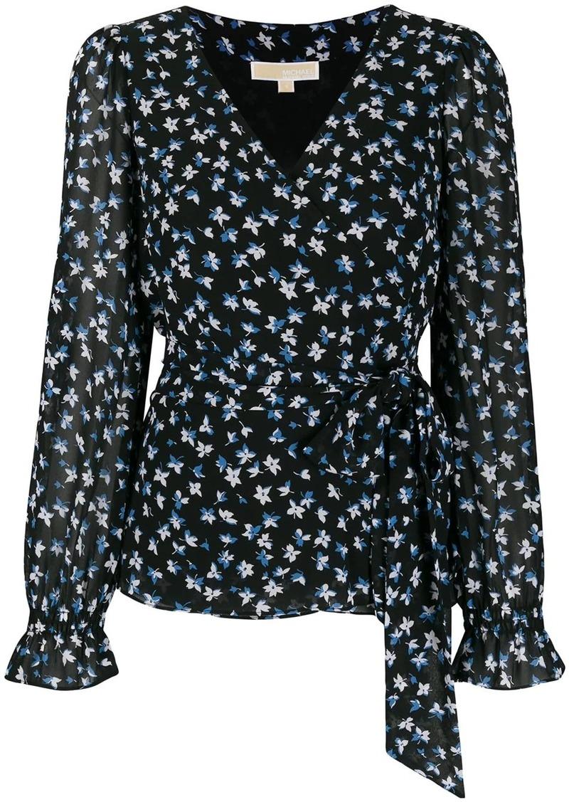 MICHAEL Michael Kors wrap front floral print blouse