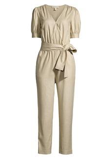 MICHAEL Michael Kors Wrap Linen Jumpsuit