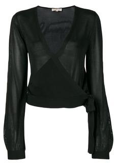 MICHAEL Michael Kors wrap long-sleeve sweater