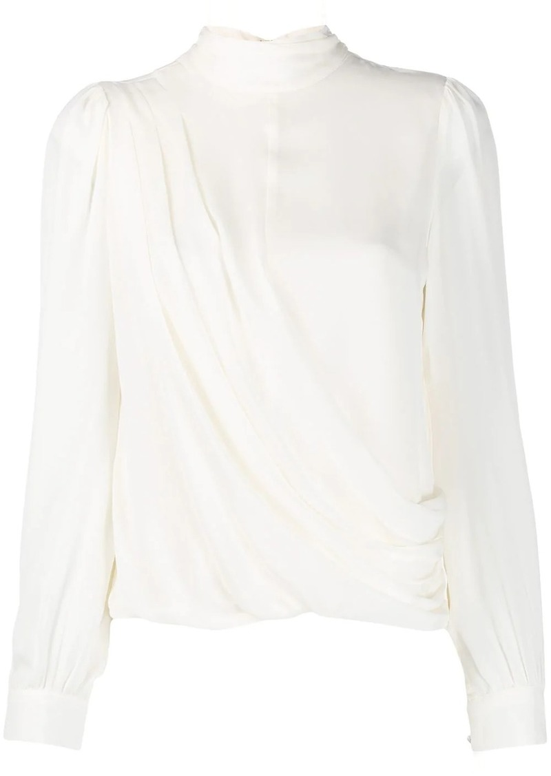 MICHAEL Michael Kors wrap-style long sleeve blouse