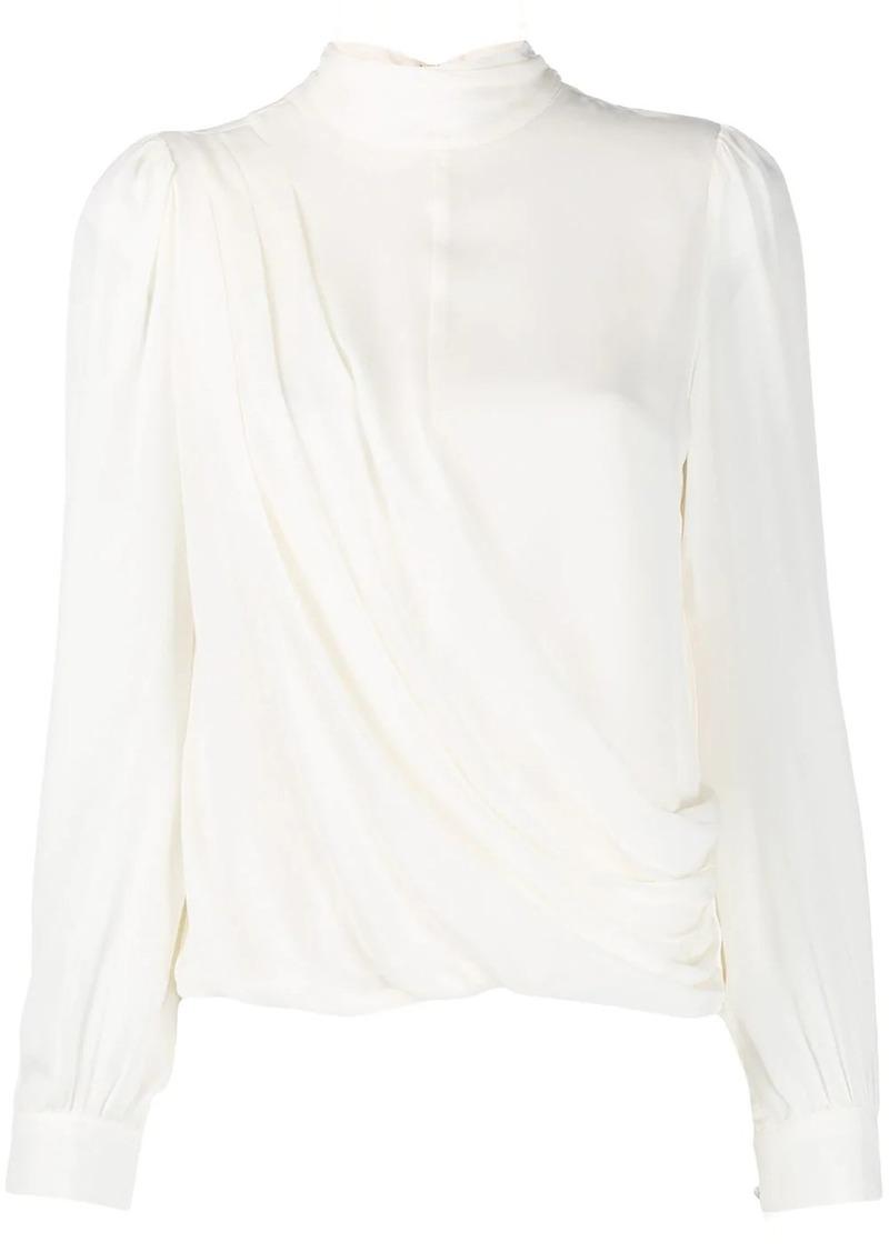 MICHAEL Michael Kors wrap-style long sleeve blouse