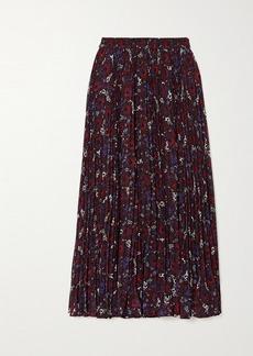 MICHAEL Michael Kors Zinnia Pleated Floral-print Chiffon Midi Skirt