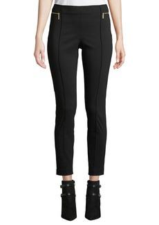MICHAEL Michael Kors Zip Detail Straight-Leg Cropped Pants