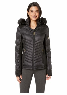 MICHAEL Michael Kors Zip Front Knit and Down Jacket A820142G