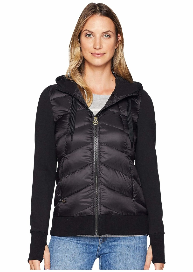 c4e40b00db9 On Sale today! MICHAEL Michael Kors Zip Front Knit Down Jacket MA820403C